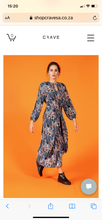 Load image into Gallery viewer, Crave wrap dress - blue print