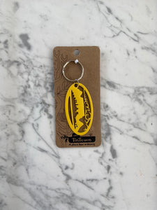 Tin Town keyring - Windy Table Mountain