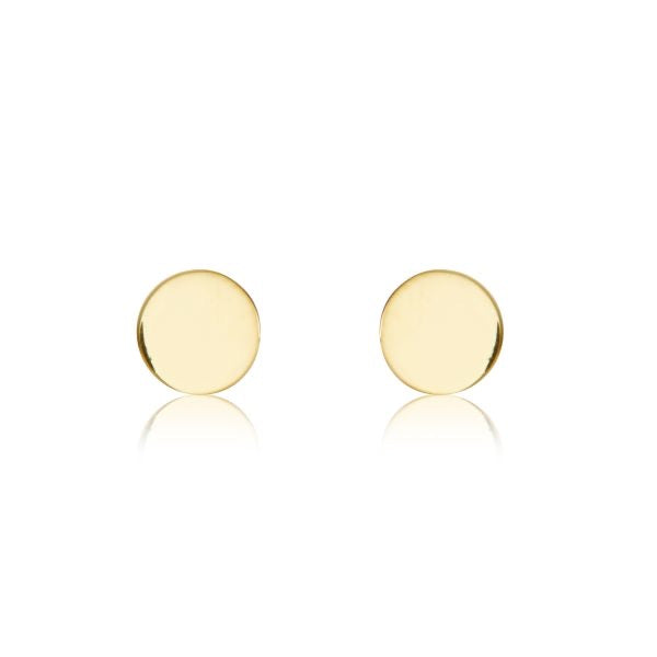 Tiny circle earrings - Brass