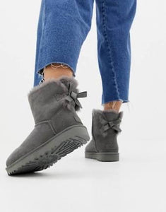 Ugg Mini Bailey Bow - Grey