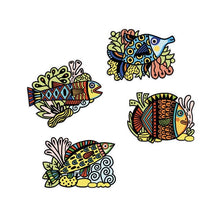 Load image into Gallery viewer, Djeco Colouring velvet - pretty fishes