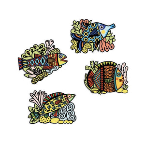 Djeco Colouring velvet - pretty fishes