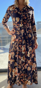 Freda and Dick Nicola dress - navy floral