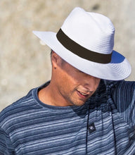 Load image into Gallery viewer, Safari hat - White black band