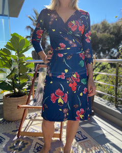 Pucci wrap dress - blue floral
