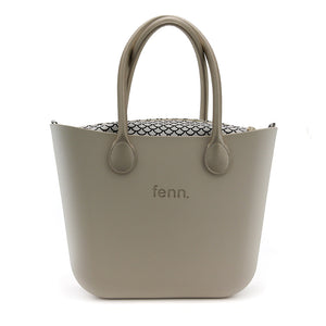 Fenn original bag - Champagne with patterned inner and gold handle