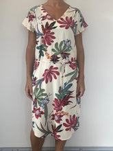 Load image into Gallery viewer, Freda and Dick belted v neck dress - cream floral