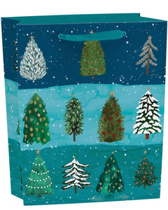 RLB large (vertical) gift bag - Christmas conifer