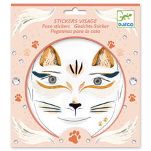 Load image into Gallery viewer, Djeco Face stickers - cat