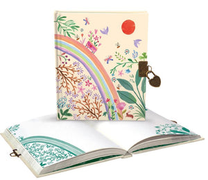 RLB lockable diary/notebook - Over the Rainbow