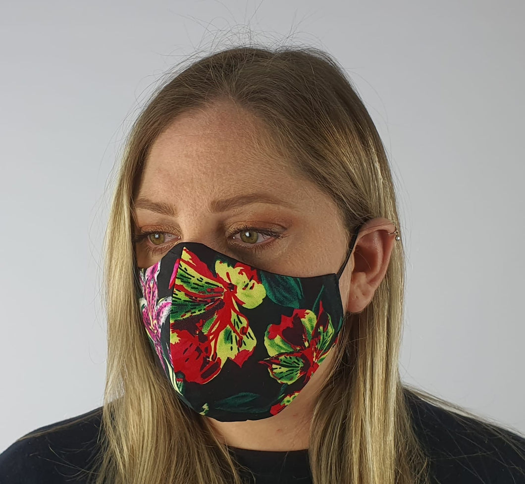 Face mask viscose - bright floral
