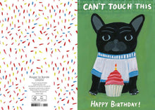 Load image into Gallery viewer, RLB Can't touch this ! Happy birthday petite card