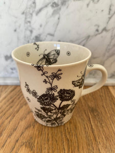 Hand - painted porcelain medium mug - coffee/tea