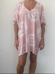 Freda and Dick tie dye tunic - pink
