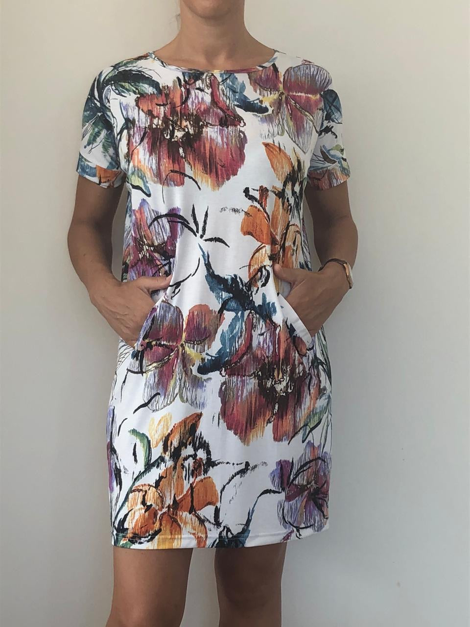 Freda and Dick Asla tunic dress - Abstract floral