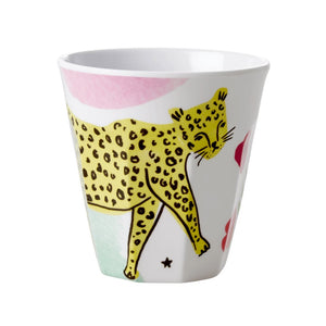Rice - melamine medium cup cheetah