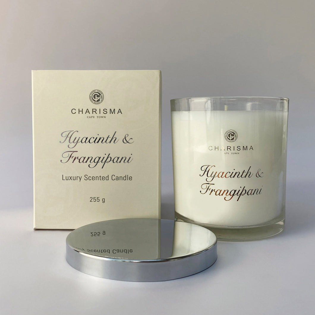 Charisma single wick candle 255g - Hyacinth and Frangipani