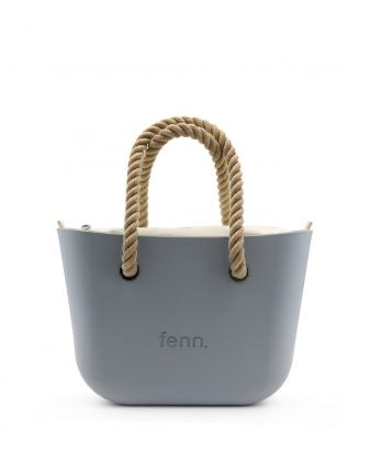 Petite Fenn with rope handle - Blue daze