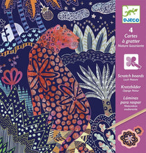 Load image into Gallery viewer, Djeco Scratch cards - lush nature