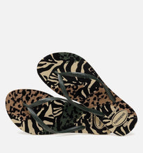 Load image into Gallery viewer, Havaianas Slim Animal - Gris / Green olive