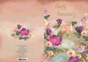 RLB Happy anniversary - two birds card