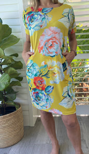 Freda and Dick Asla dress - yellow antique floral