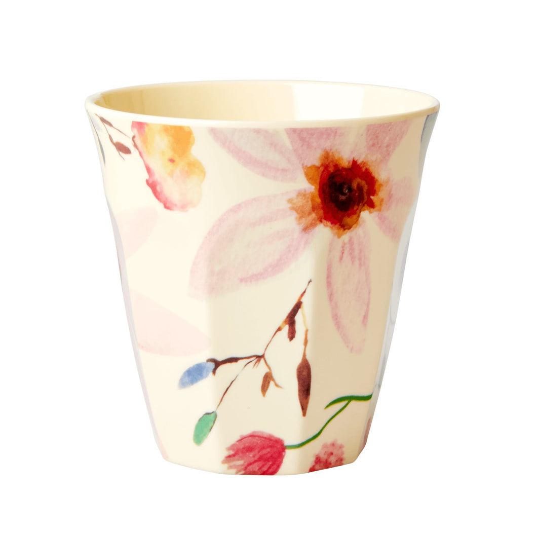 Rice - melamine medium cup vintage floral