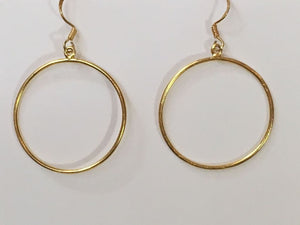 Single hoop earring - Silver