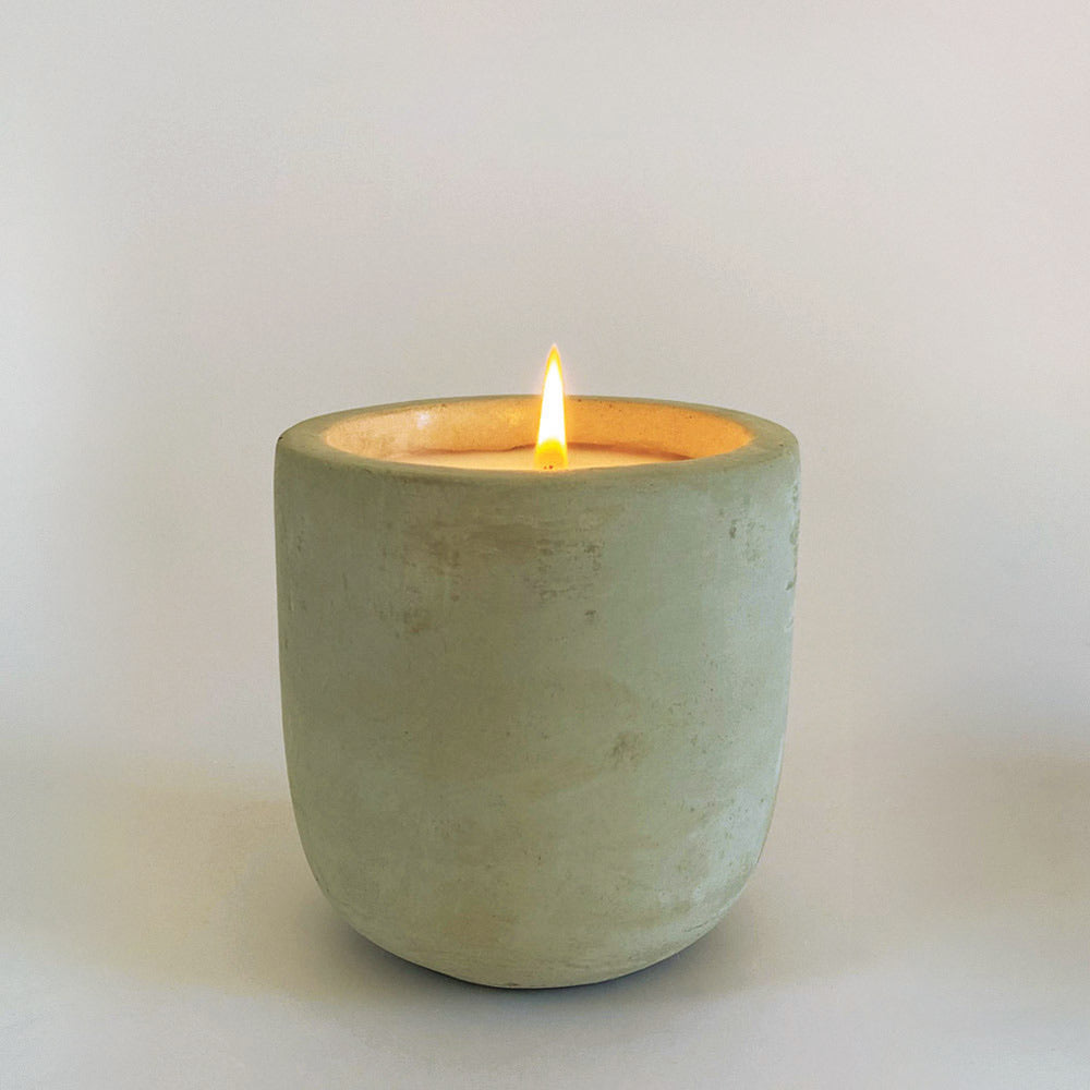 Charisma single wick raw cement candle 300g - Lemongrass
