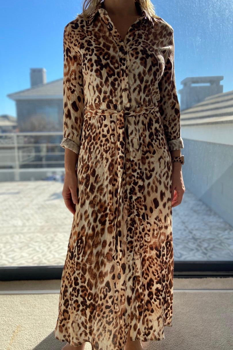 Freda and Dick Nicola dress - light leopard