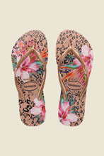Load image into Gallery viewer, Havaianas Slim Animal Floral Crocus Rose
