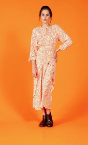 Crave wrap dress - orange zebra print