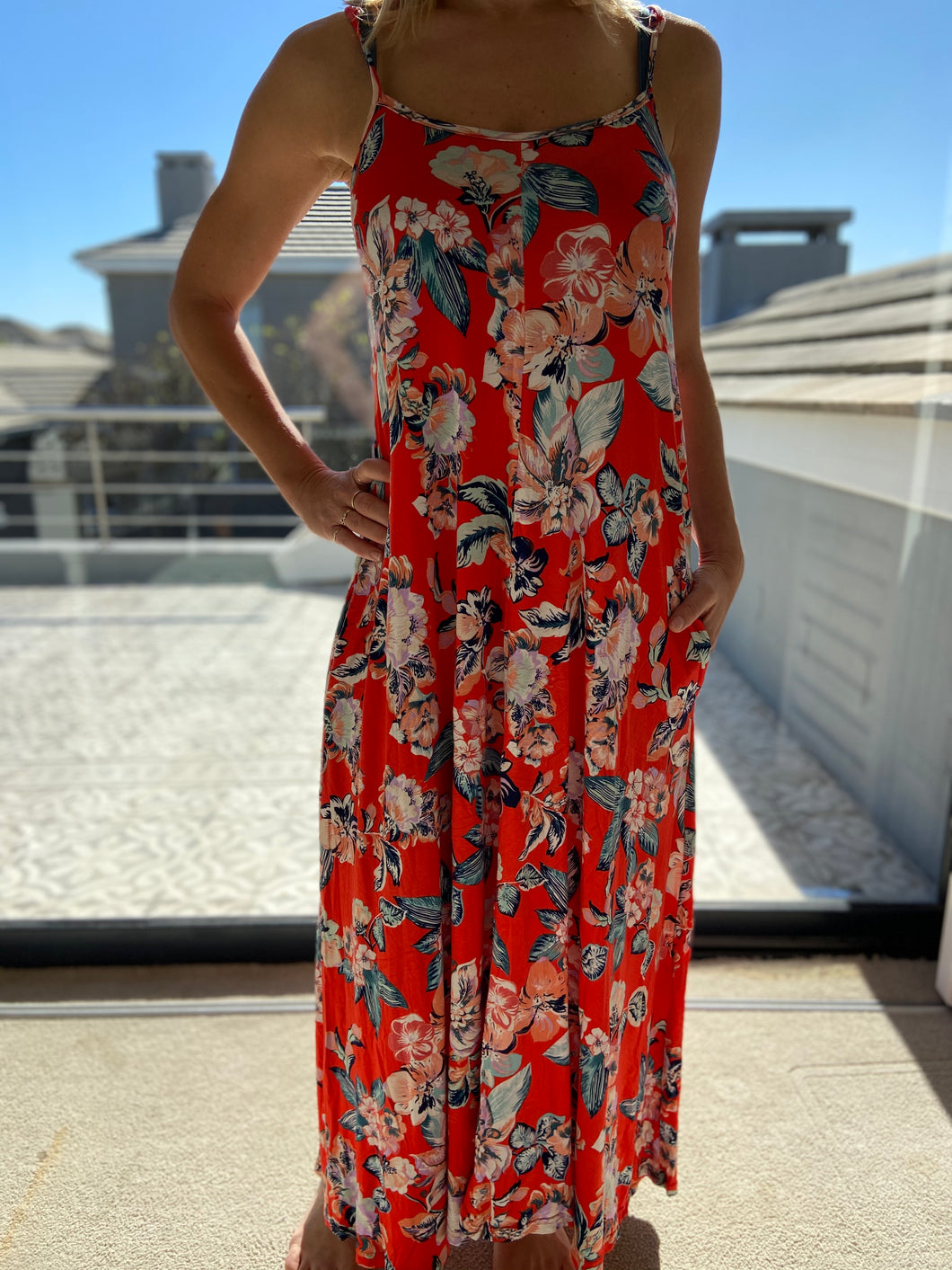 Freda and Dick Celine dress - Red floral