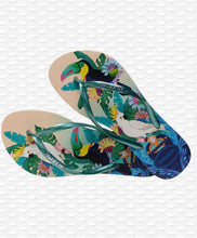 Load image into Gallery viewer, Havaianas Slim Tropical - Beige / Green leaf