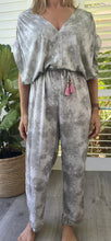 Load image into Gallery viewer, Lila rose v-neck jumpsuit - Grey tie dye
