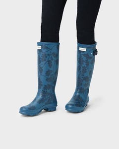 Hunter women's National Trust Print Norris Field Boots - Dusk