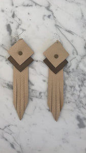 Leather tassle earring
