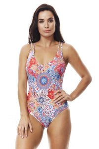Moontide Murano twin straps underwire suit - Multi