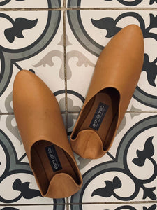 Esmadrilla leather slipper - Tan