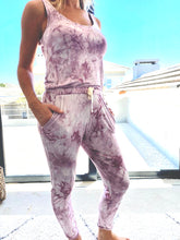 Load image into Gallery viewer, Freda and Dick jumpsuit - Light purple tie dye