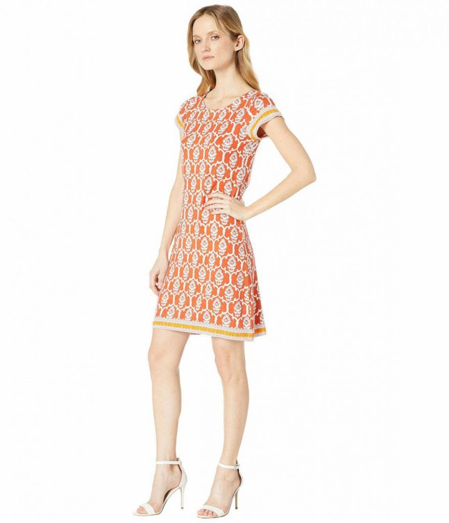 Hatleys Nellie dress - Lattice Rust