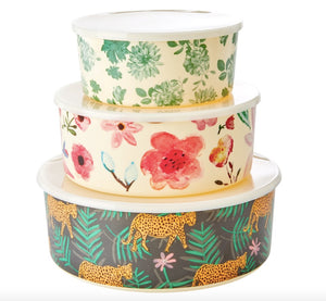 Rice melamine cake tins set- tigers