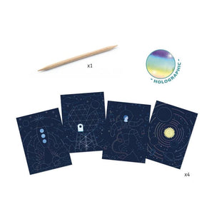 Djeco Scratch cards - cosmic mission