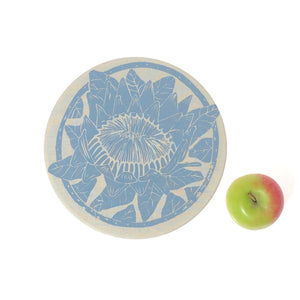 Spaza Dish and Bowl Cover Small Protea Print | handy single portion or leftover