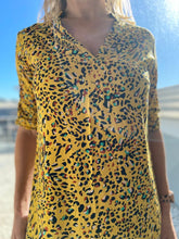 Load image into Gallery viewer, Freda and Dick Jayne tunic  - yellow animal
