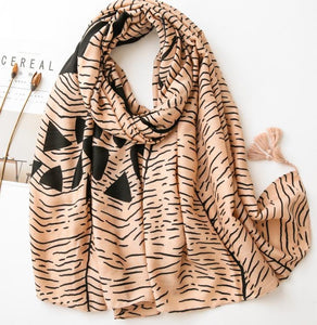 Scarf - tonal with black print