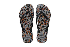 Havaiana slim animal - steel grey