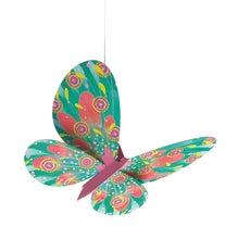 Load image into Gallery viewer, Djeco lightweights to hang - glitter butterflies