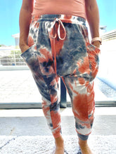 Load image into Gallery viewer, Freda and Dick track pants - Tie dye orange