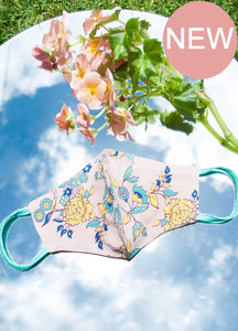 Diana Light-Weight reversible Face Mask - blush Bombay Floral